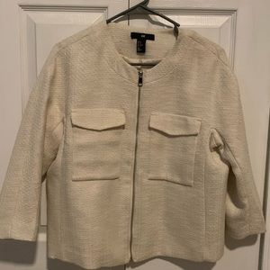 H&M Tweed jacket cream